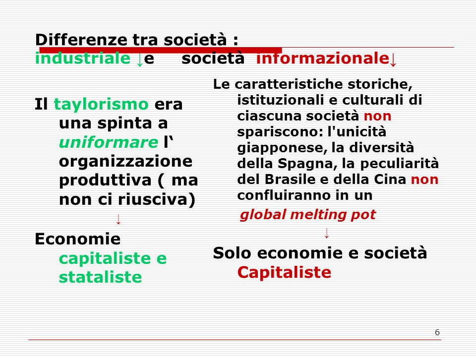 7 L identità è un processo attraverso il quale il soggetto riconosce se stesso Nella società industriale Facendo riferimento a strutture sociali Lotta di classe secondo Touraine Nella soc.