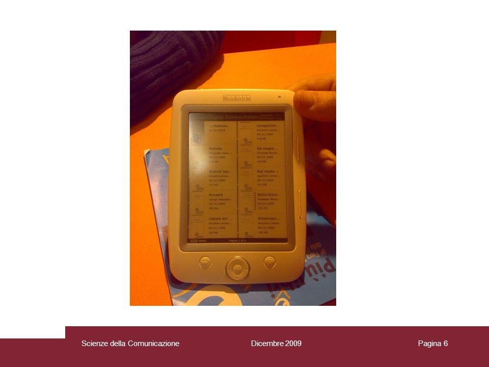 Dicembre 2009 Scienze della Comunicazione Pagina 7Scienze della Comunicazione