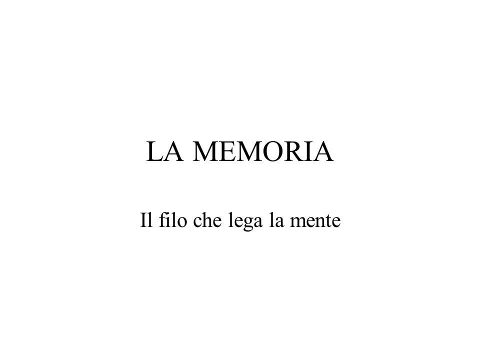 LA MEMORIA Il filo che lega la mente