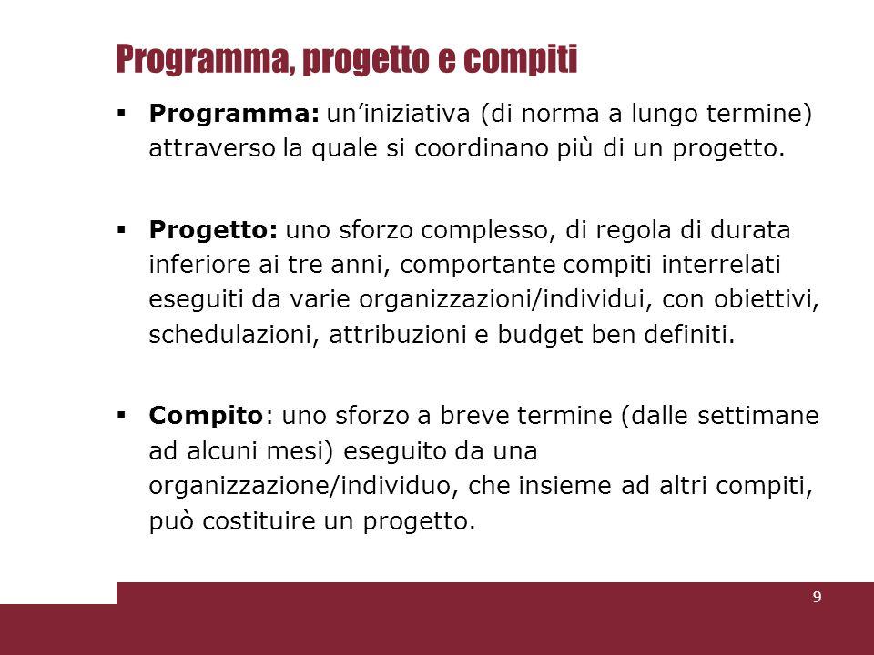 La funzione del Project Manager (Professionale?)