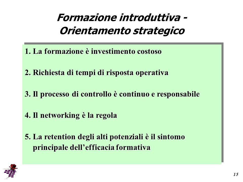 Formazione introduttiva - Orientamento strategico 15 1.