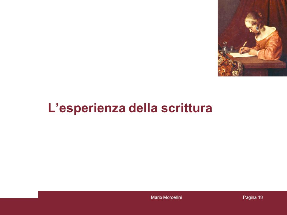 Lesperienza della scrittura Mario MorcelliniPagina 18