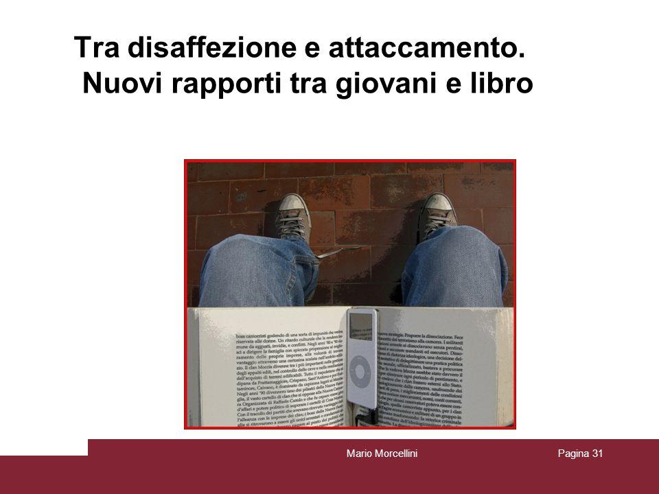 Mario MorcelliniPagina 31 Tra disaffezione e attaccamento. Nuovi rapporti tra giovani e libro