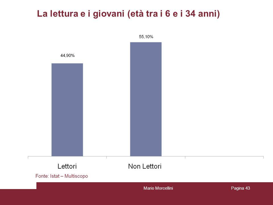 La lettura e i giovani (età tra i 6 e i 34 anni) Mario MorcelliniPagina 43