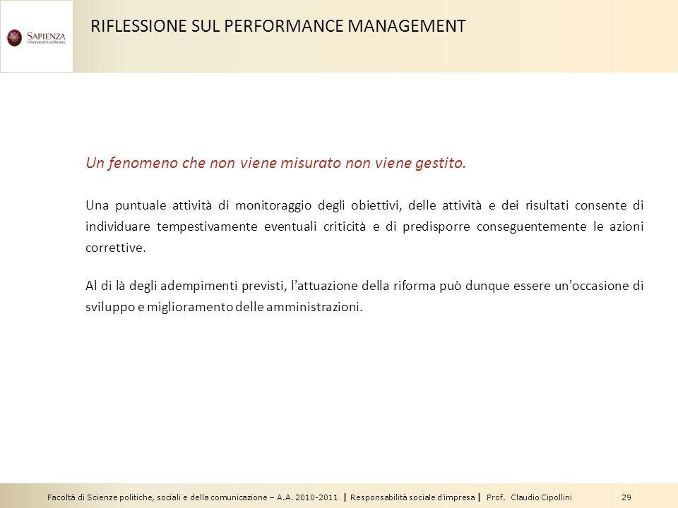 Facoltà di Scienze politiche, sociali e della comunicazione – A.A. 2010-2011 | Responsabilità sociale dimpresa | Prof. Claudio Cipollini 29 Un fenomen