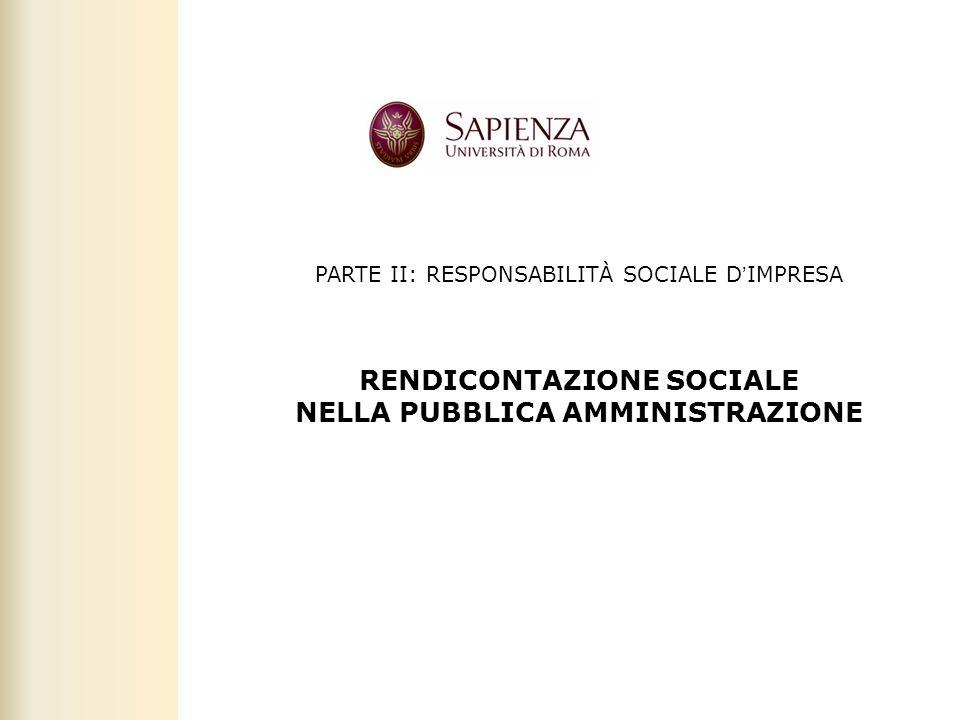 Facoltà di Scienze politiche, sociali e della comunicazione – A.A. 2010-2011 | Responsabilità sociale dimpresa | Prof. Claudio Cipollini 4 PARTE II: R