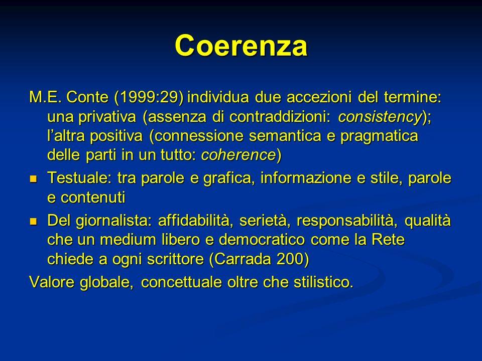 Coerenza M.E.