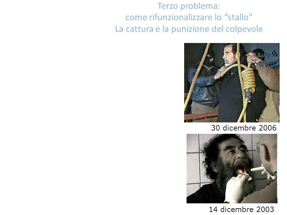 Terzo problema: come rifunzionalizzare lo stallo La cattura e la punizione del colpevole 14 dicembre 2003 30 dicembre 2006