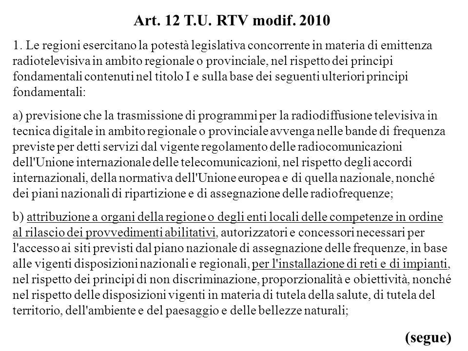 Art. 12 T.U. RTV modif. 2010 1.