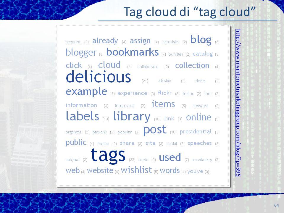 64 Tag cloud di tag cloud http://www.myinternetmarketinggroup.com/blog/?p=595