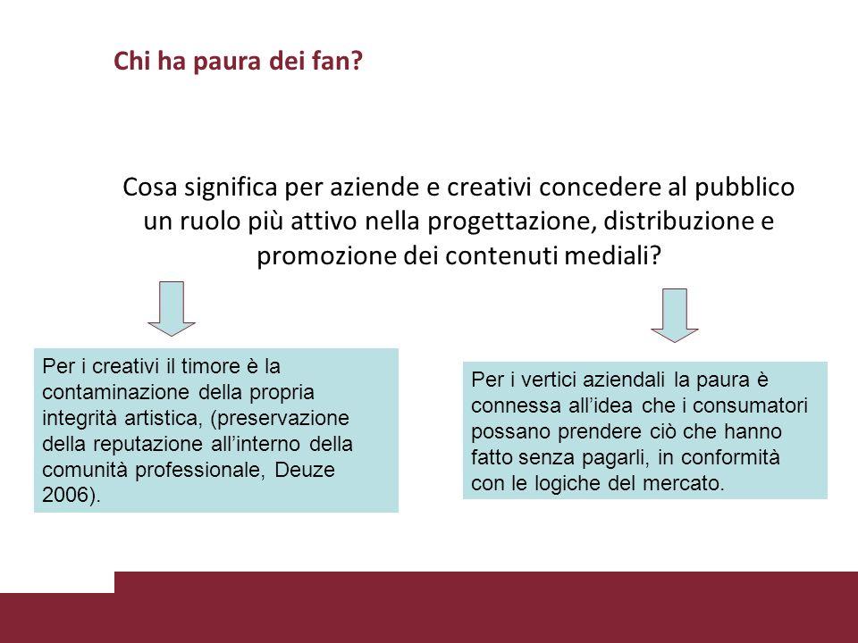 Chi ha paura dei fan? Cosa significa per aziende e creativi concedere al pubblico un ruolo più attivo nella progettazione, distribuzione e promozione
