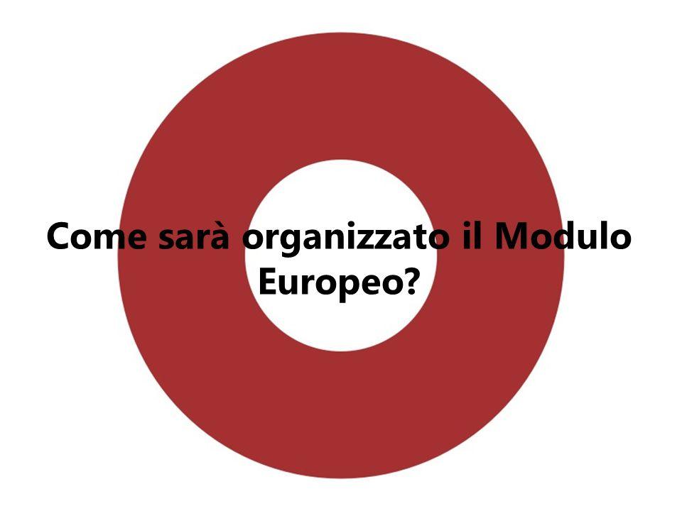 Come sarà organizzato il Modulo Europeo?