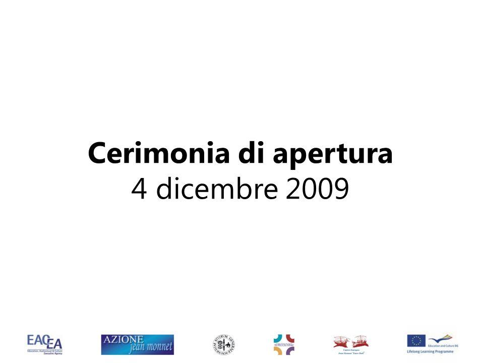 Cerimonia di apertura 4 dicembre 2009