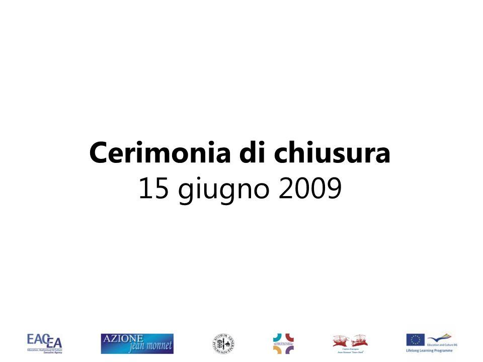 Cerimonia di chiusura 15 giugno 2009