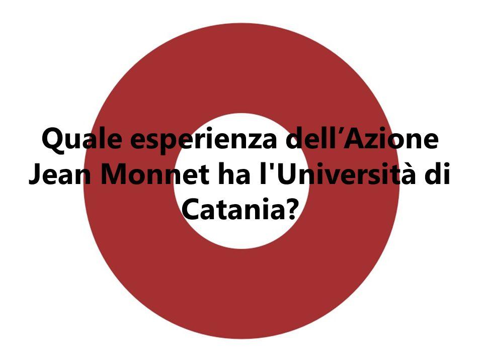 Quale esperienza dellAzione Jean Monnet ha l'Università di Catania?