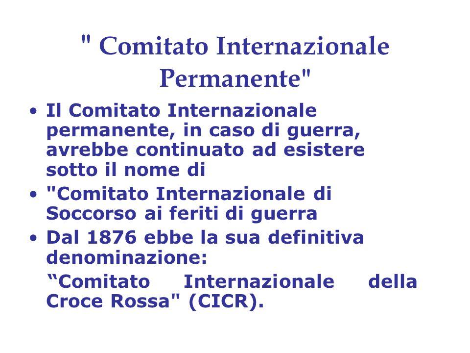 Memoria del Comitato dei Cinque Nella Memoria redatta nel 1863, (Procès Verbaux des Séances du Comité International de la Croix Rouge 1863-1914 Genève 1999.