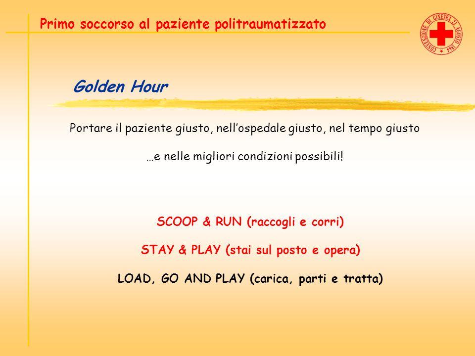 Golden Hour Primo soccorso al paziente politraumatizzato Portare il paziente giusto, nellospedale giusto, nel tempo giusto …e nelle migliori condizion