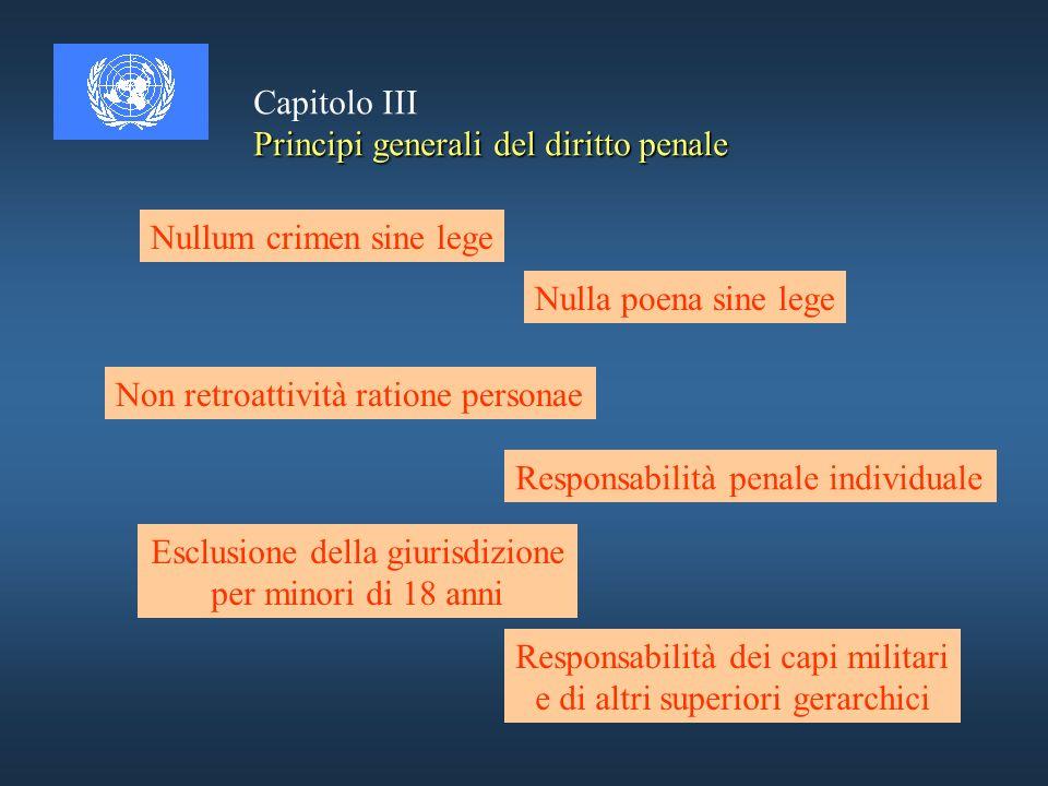 Crimini contro lumanità a) uccisione b) sterminio c) riduzione in schiavitù d) deportazione o trasferimento coatto e) prigionia o altra forma di restr