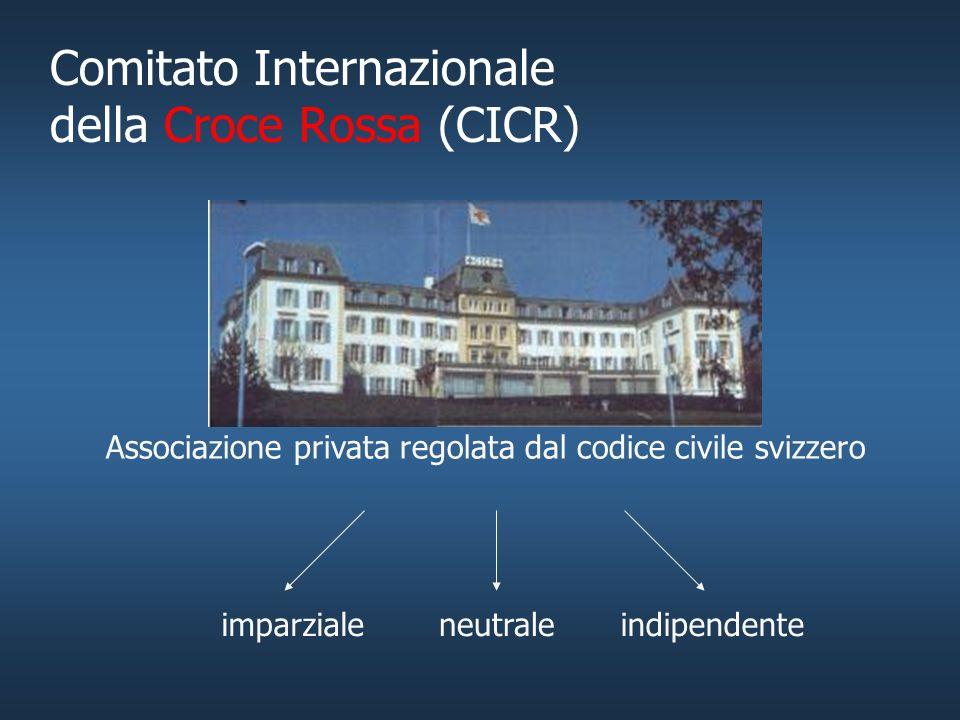 Il ruolo del CICR nei conflitti armati.