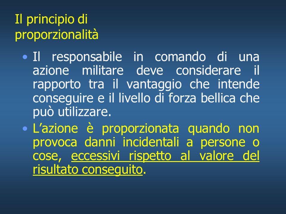Protezione dagli effetti della guerra In generale: –Il diritto di scegliere mezzi e metodi di combattimento non è illimitato; –In ogni caso vanno evit