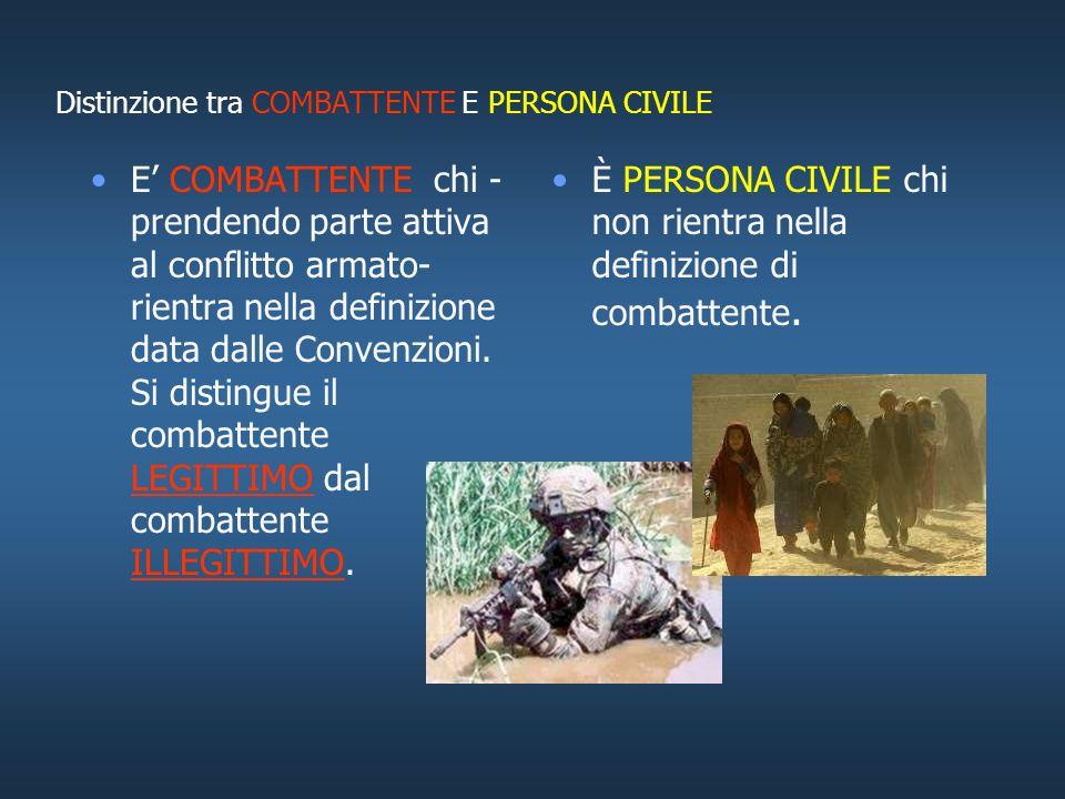 LO STATUS DEL COMBATTENTE NEI CONFLITTI ARMATI