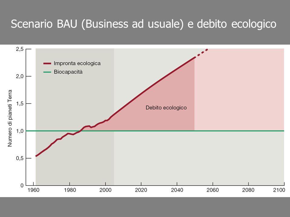 Scenario BAU (Business ad usuale) e debito ecologico