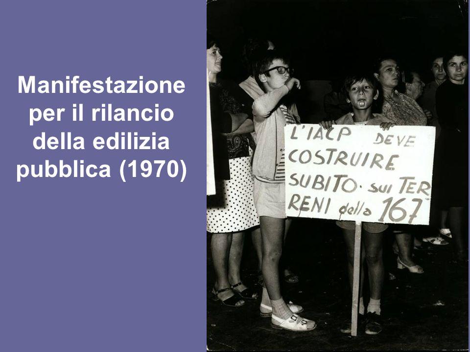 Manifestazione per il rilancio della edilizia pubblica (1970)