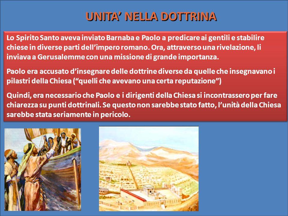 Lo Spirito Santo aveva inviato Barnaba e Paolo a predicare ai gentili e stabilire chiese in diverse parti dellimpero romano. Ora, attraverso una rivel