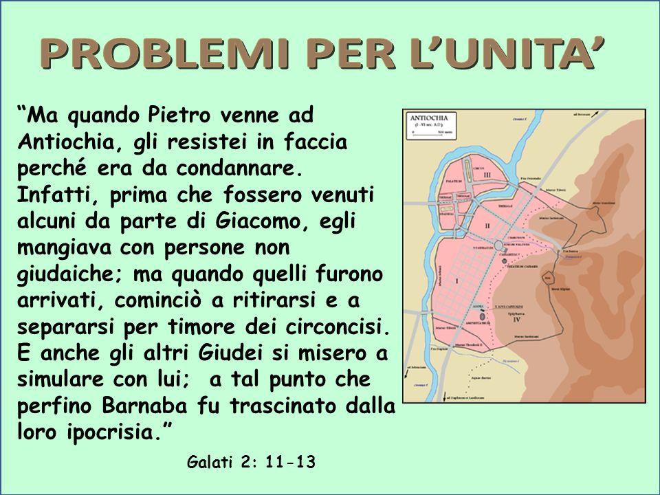 Ma quando Pietro venne ad Antiochia, gli resistei in faccia perché era da condannare. Infatti, prima che fossero venuti alcuni da parte di Giacomo, eg