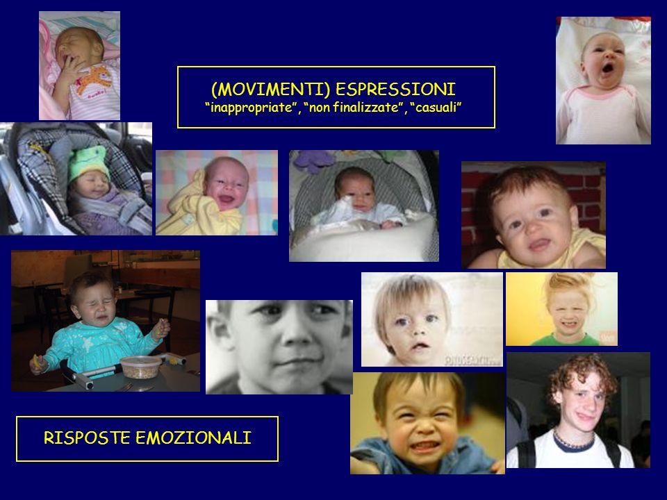 RISPOSTE EMOZIONALI (MOVIMENTI) ESPRESSIONI inappropriate, non finalizzate, casuali