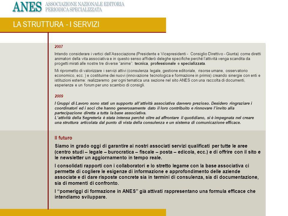 2007 Il Servizio di Certificazione della tiratura e diffusione ha consentito a questa Associazione di nascere e di affermarsi.