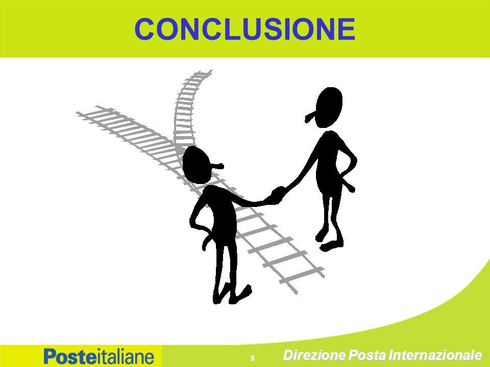 Direzione Posta Internazionale 8 CONCLUSIONE