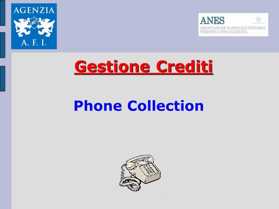Gestione del Credito in outsourcing Verifica ricevimento fattura Promemoria alla scadenza Sollecito scaduto Invio Intimazione scritta