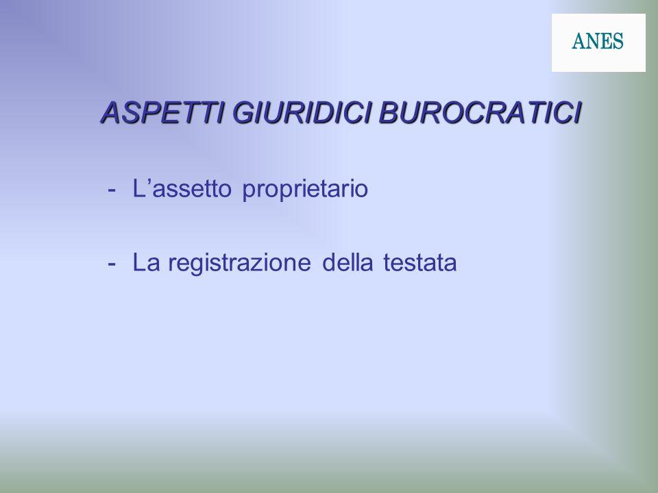 ASPETTI GIURIDICI BUROCRATICI -Lassetto proprietario -La registrazione della testata