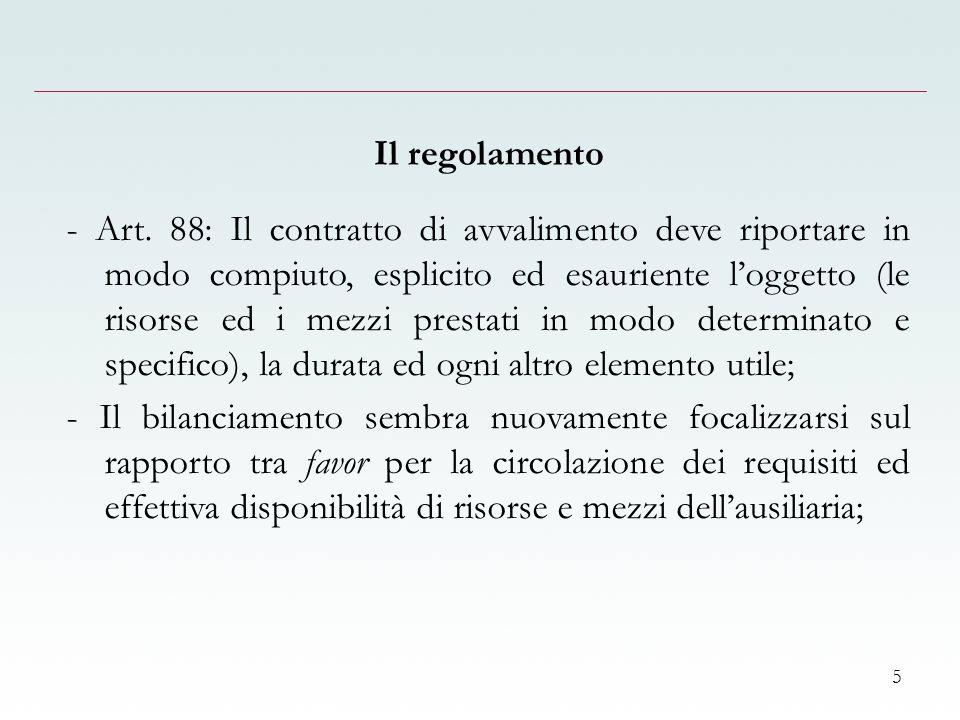 5 Il regolamento - Art.