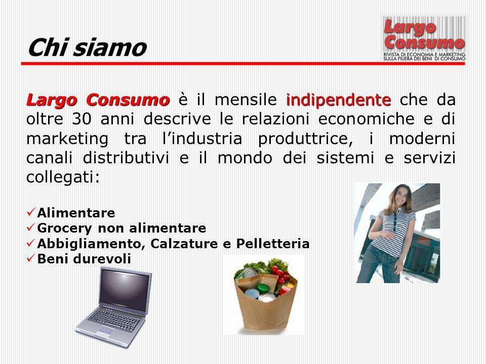 Chi siamo Largo Consumoindipendente Largo Consumo è il mensile indipendente che da oltre 30 anni descrive le relazioni economiche e di marketing tra l