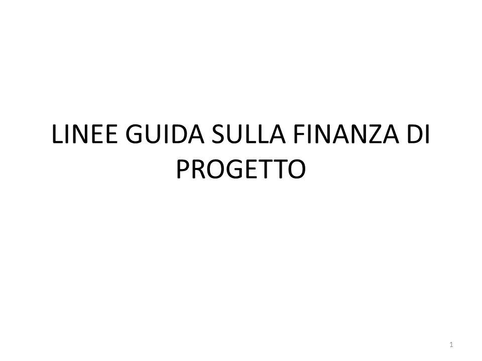 LINEE GUIDA SULLA FINANZA DI PROGETTO 1