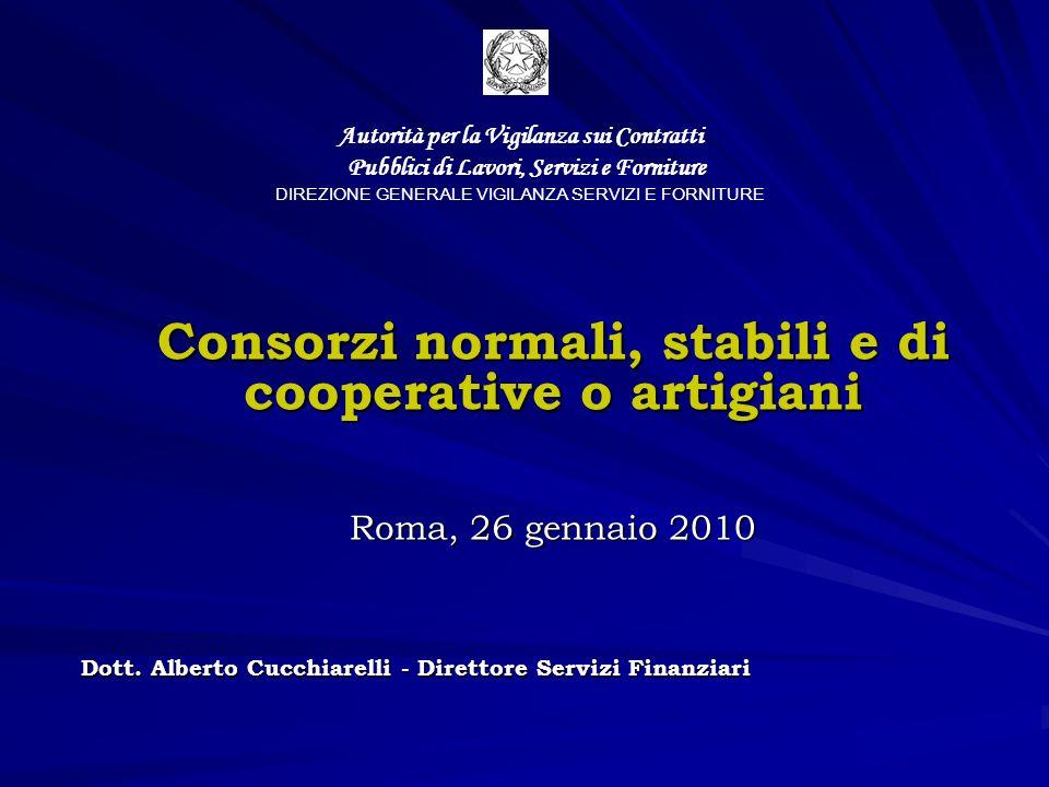 La partecipazione alla gara dei consorzi e delle consorziate Lart.