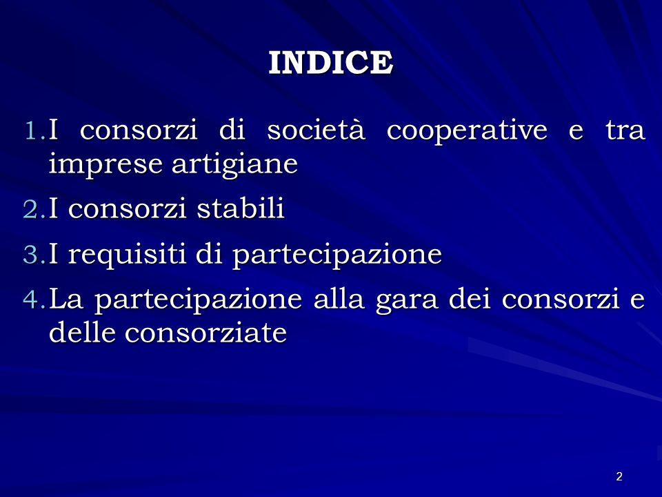 La partecipazione alla gara dei consorzi e delle consorziate Nella Deliberazione n.