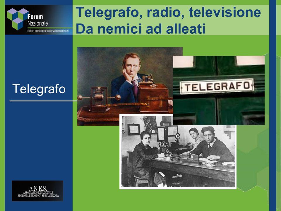 Telegrafo, radio, televisione Da nemici ad alleati Telegrafo
