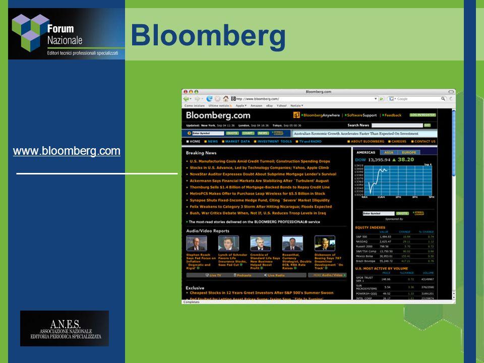 Bloomberg www.bloomberg.com
