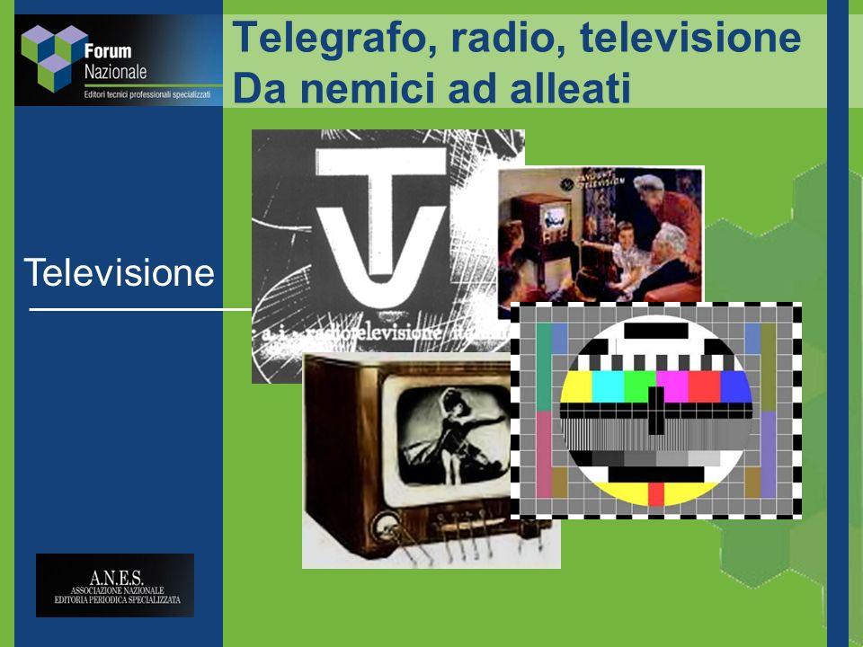 Telegrafo, radio, televisione Da nemici ad alleati Televisione