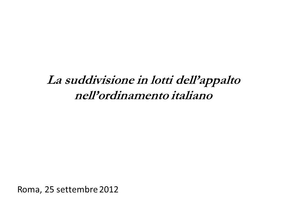 Roma, 25 settembre 2012 prof. avv.