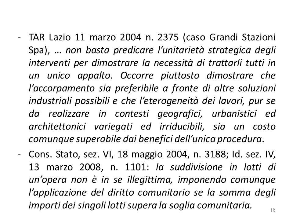 -TAR Lazio 11 marzo 2004 n.