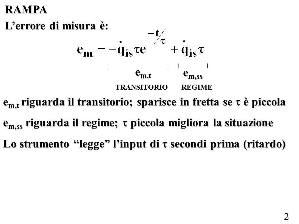 23 2°ORDINE: IMPULSO Lequazione è sempre: Condizioni iniziali: t=0 + Da dove viene?
