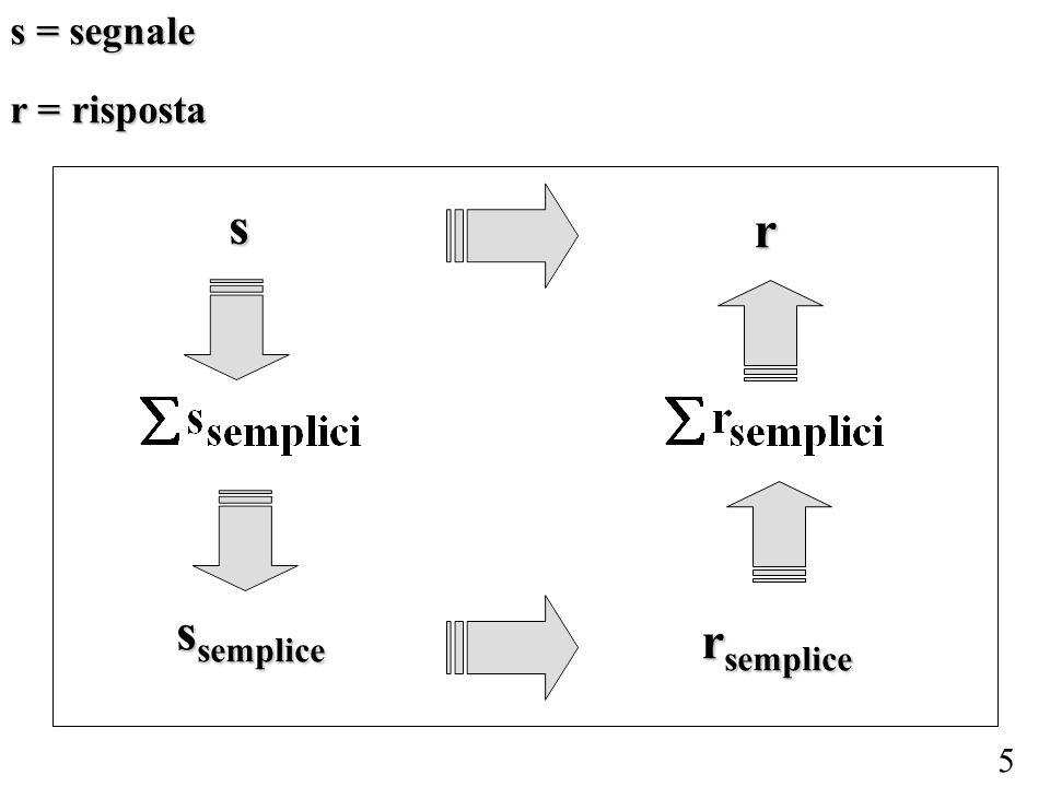 5 s = segnale r = risposta s s semplice r r semplice