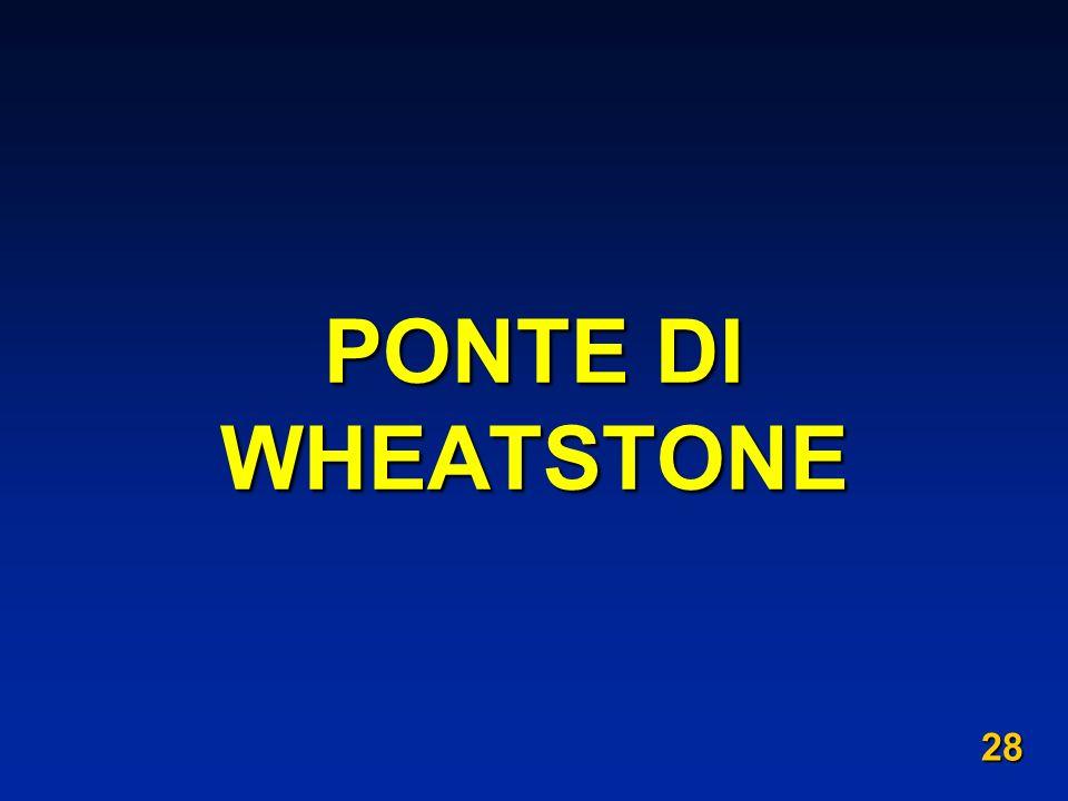 PONTE DI WHEATSTONE 28