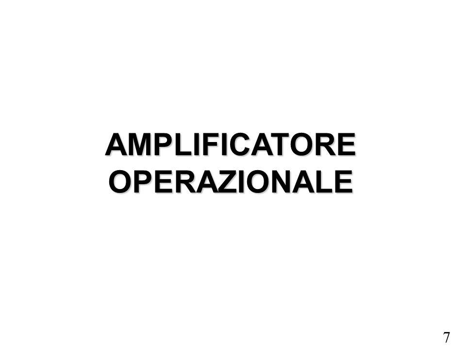 7 AMPLIFICATORE OPERAZIONALE