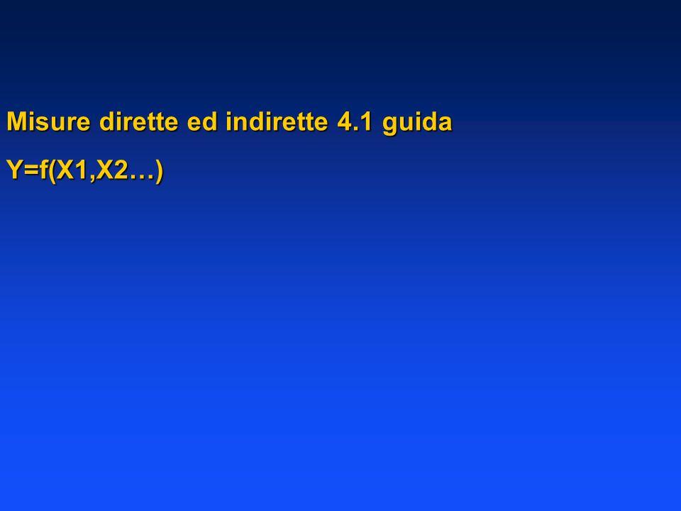 Misure dirette ed indirette 4.1 guida Y=f(X1,X2…)