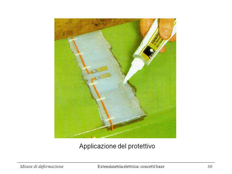 Misure di deformazione30 Applicazione del protettivo Estensimetria elettrica: concetti base